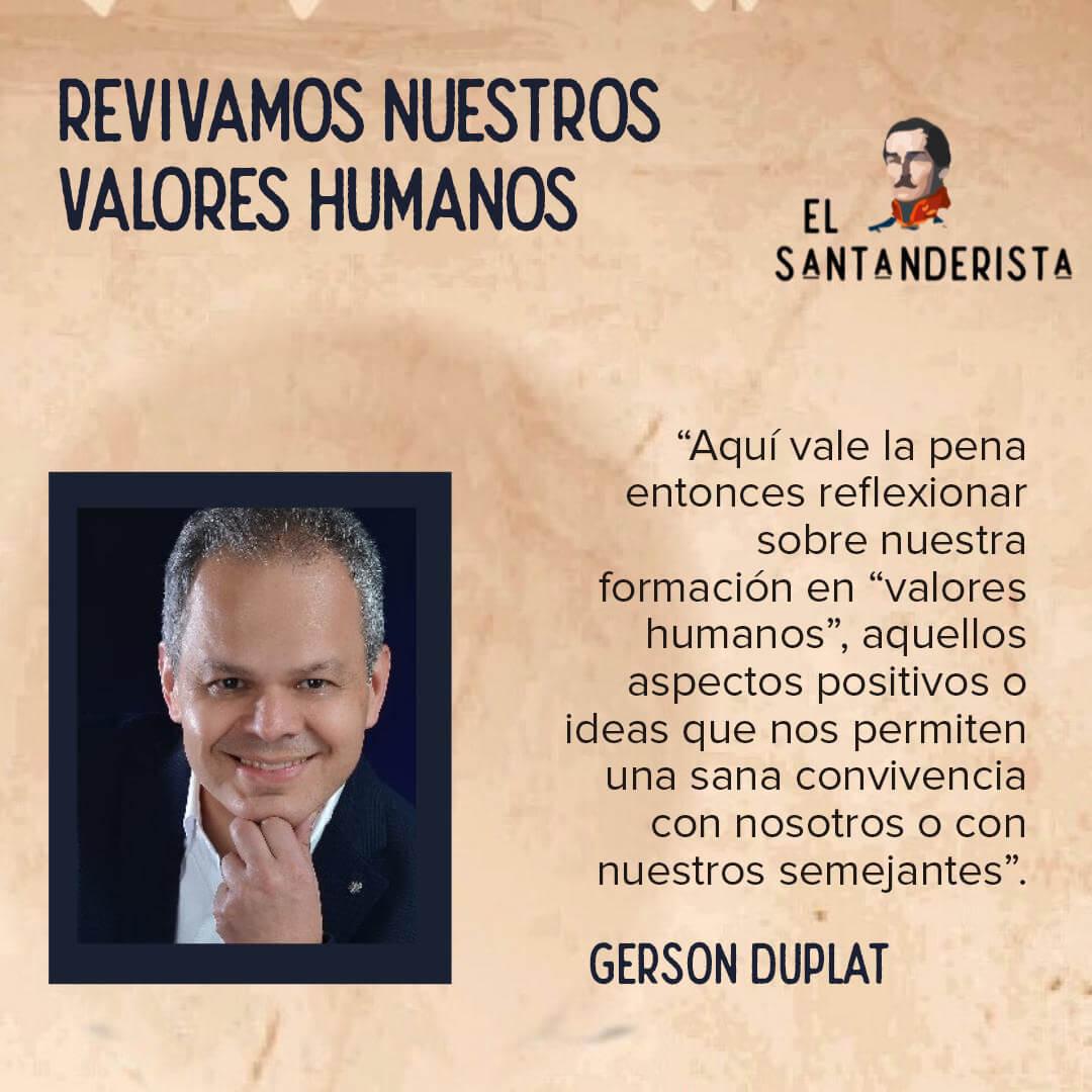 Revivamos nuestros valores humanos el santanderista