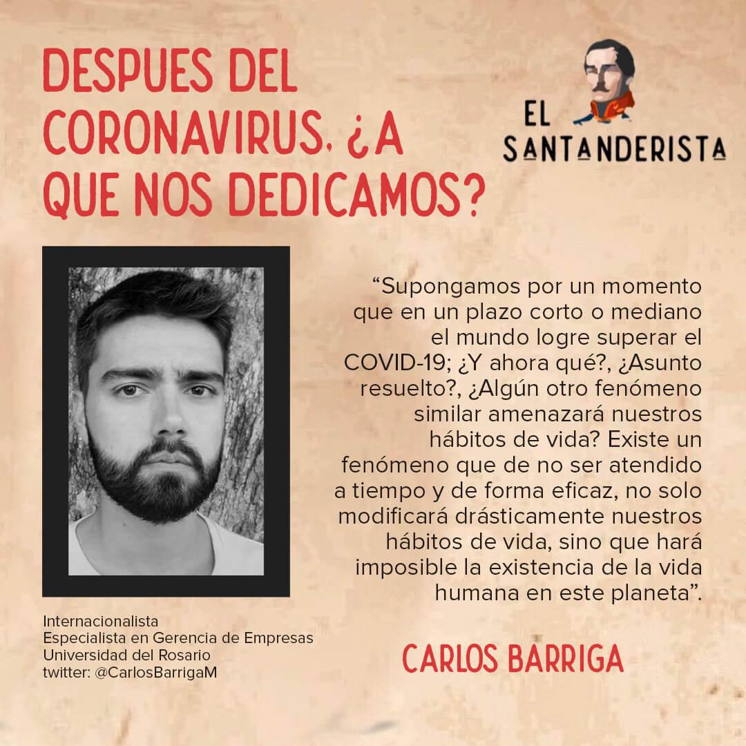 el santanderista después del coronavirus