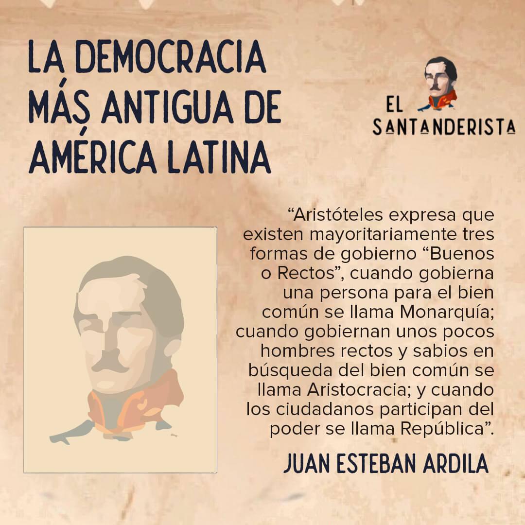 el santanderista la democracia mas antigua de america latina